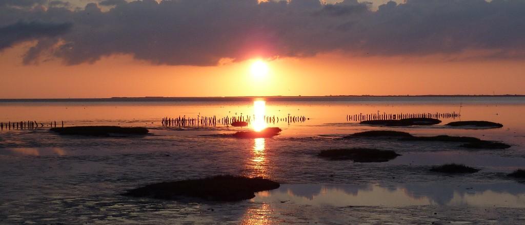 Sonnenuntergang in Harlesiel